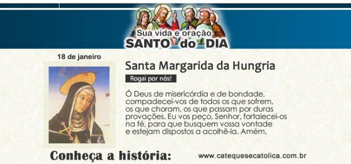 Santo do dia Santa Margarida da Hungria