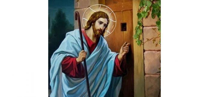 Jesus está a porta e pede entrada