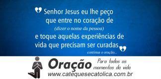 Oração de Intercessão pela cura interior de alguém