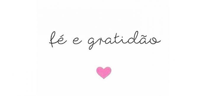 fé e gratidão