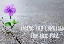 Deixe sua esperança lhe dar paz. ter fé