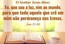 jesus luz que ilumina as trevas