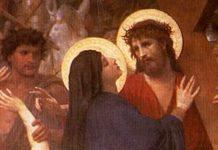 encontro de Jesus com Nossa Senhora