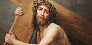 Paixão de JEsus Cristo - jesus carrega sua cruz