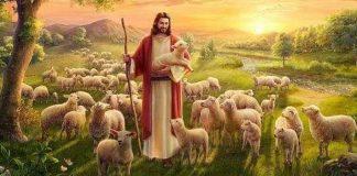 BOm Pastor Jesus com seu rebanho
