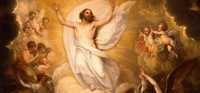 Ascensão do Senhor Jesus sobe ao céu