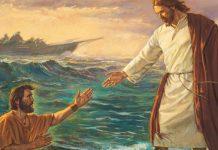 coragem sou eu, jesus acalma a tempestade