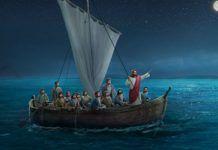 A tempestade acalmada por Jesus!